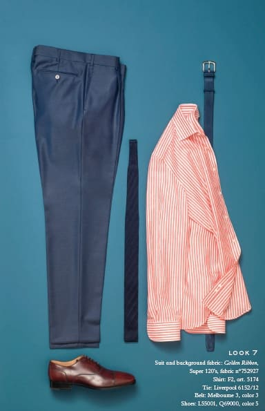 striped shirt trousers