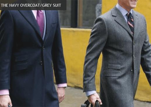 navy and grey overcoats